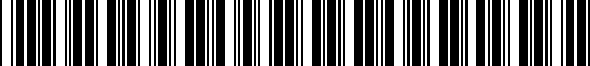 Barcode for 1510274020