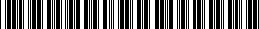 Barcode for 1516574020