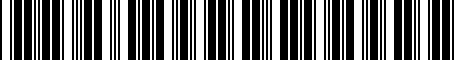 Barcode for PT42700120