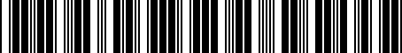 Barcode for PT47A33002