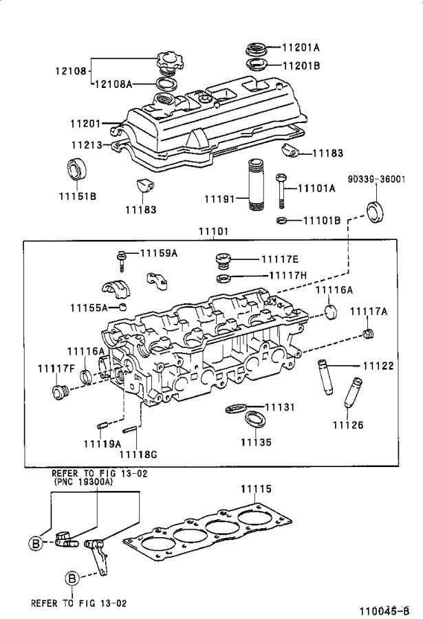 Diagram CYLINDER HEAD for your Toyota