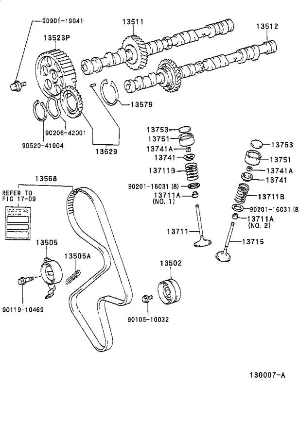 Diagram CAMSHAFT & VALVE for your Toyota