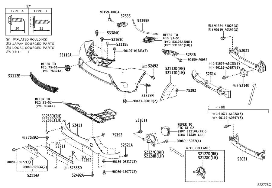 Diagram FRONT BUMPER & BUMPER STAY for your Toyota