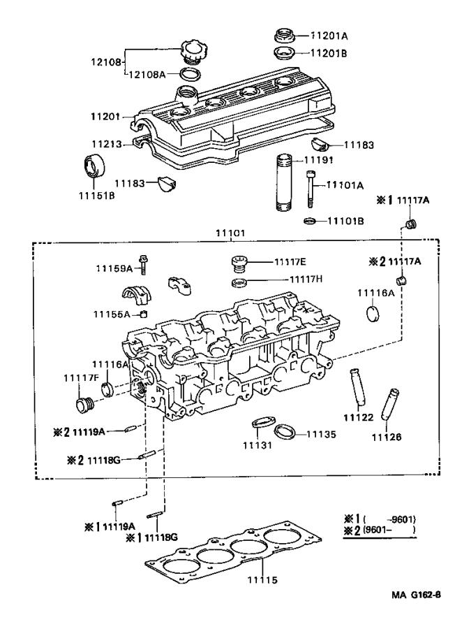 Diagram CYLINDER HEAD for your 1997 Toyota RAV4